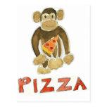 Mono de la pizza postal