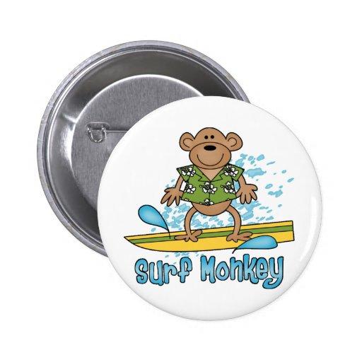 Mono de la resaca pin redondo 5 cm