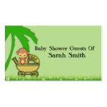 Mono de la selva en fiesta de bienvenida al bebé d tarjetas de visita