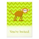 Mono de la selva invitación 12,7 x 17,8 cm