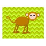 Mono de la selva postal