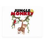 Mono de la selva tarjeta postal