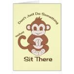 Mono de la yoga de la meditación felicitacion