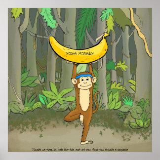 Mono de la yoga póster