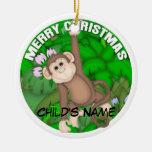 Mono de las Felices Navidad Adorno Para Reyes