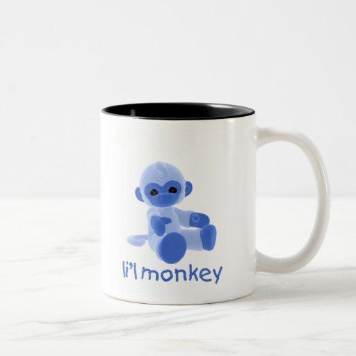 Mono de L'il (azul) Tazas