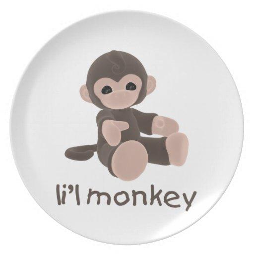 Mono de L'il (marrón) Platos De Comidas