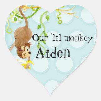 Mono de Lil, sello del pegatina de la fiesta de