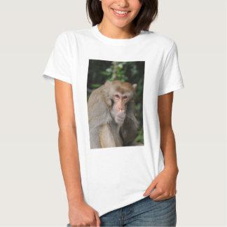 Mono de Macaque masculino Camisas