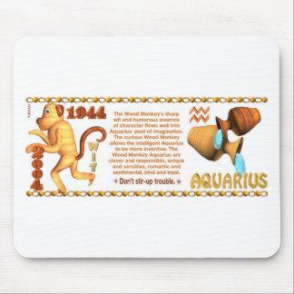 Mono de madera 1944 del acuario del zodiaco de Val Tapete De Raton