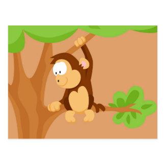 Mono de mi serie de los animales del mundo postales