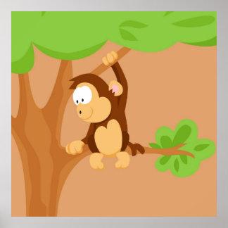 Mono de mi serie de los animales del mundo póster