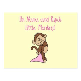 Mono de Nana y de la papá - camisetas y regalos ro Tarjeta Postal