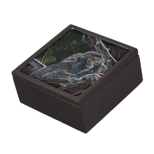 Mono de neón caja de joyas de calidad