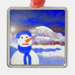 Mono de Nieve Ornamento Para Reyes Magos