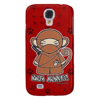 ¡Mono de Ninja! Rojo del caso del iPhone 3 de Ninj