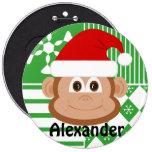 Mono de Papá Noel personalizado almacenando el bot Pin