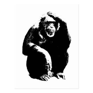 Mono de pensamiento tarjetas postales