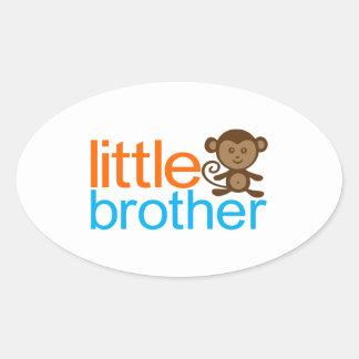 Mono de pequeño Brother Pegatina Ovalada