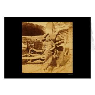 Mono de polvo en el Pawnee 1862 de USS Tarjeta De Felicitación