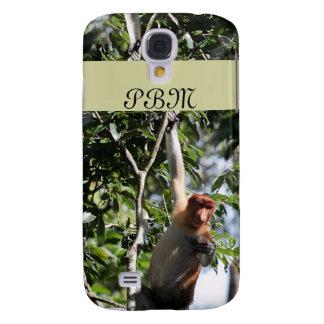 Mono de probóscide en la selva tropical de Borneo