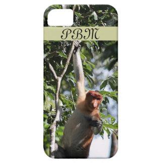 Mono de probóscide en la selva tropical de Borneo Funda Para iPhone 5 Barely There