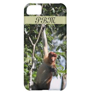 Mono de probóscide en la selva tropical de Borneo Funda Para iPhone 5C