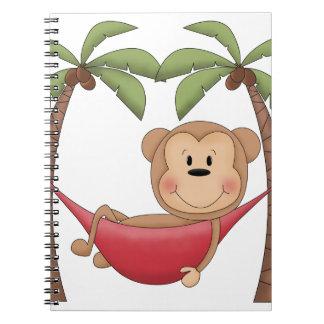 Mono de relajación libro de apuntes