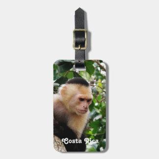 Mono de Rican de la costa Etiqueta De Maleta