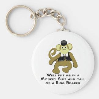 Mono de Ringbearer/ Llavero Redondo Tipo Pin