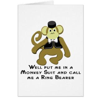 Mono de Ringbearer/ Tarjeta De Felicitación