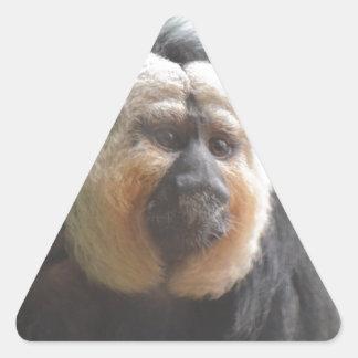 Mono de Saki Pegatina Triangular