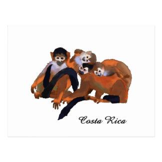 Mono de Titi de Costa Rica Postales