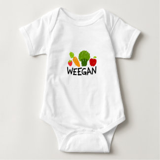 Mono de Weegan del bebé - luz Playeras