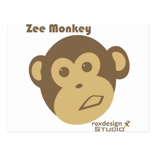 Mono de Zee Tarjeta Postal