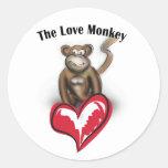 Mono del amor etiqueta