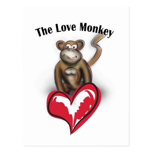 Mono del amor postal