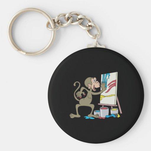mono del artista llavero redondo tipo pin