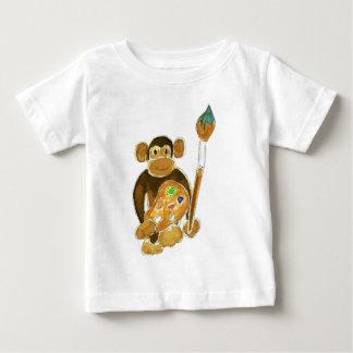 Mono del artista playera de bebé