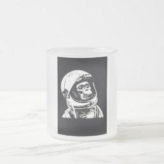 Mono del astronauta taza de cristal