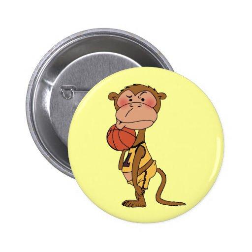 Mono del baloncesto pin redondo 5 cm
