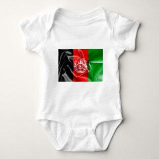Mono del bebé de la bandera de Afganistán Remera