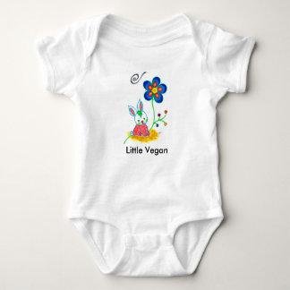 """Mono del bebé del """"pequeño vegano"""" poleras"""