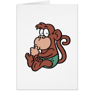 Mono del bebé felicitación
