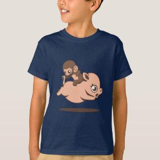 Mono del bebé (que va al revés en un cerdo) polera