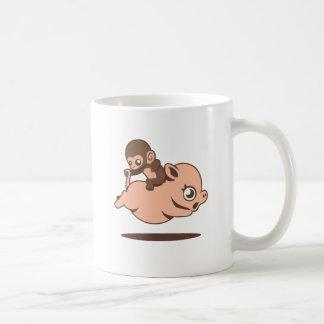 Mono del bebé (que va al revés en un cerdo) taza clásica