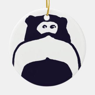 Mono del bigote adorno redondo de cerámica