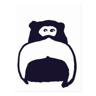 Mono del bigote tarjetas postales