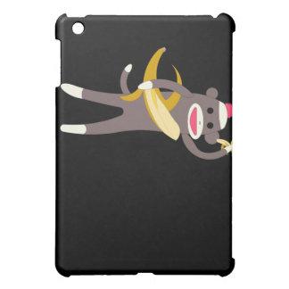 Mono del calcetín con el caso del iPad de las espa