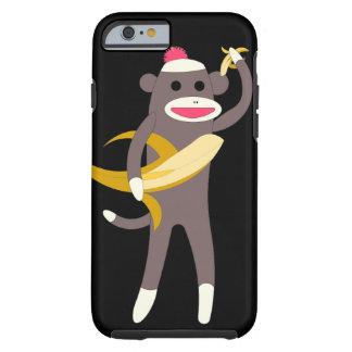 Mono del calcetín con las espadas del plátano funda de iPhone 6 tough